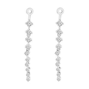 1/4ct tw Diamond Earring Jackets in 10K White GoldLadies diamond earrings jackets featuring 20 round cut diamonds in 10K white gold. 1/4 carat total diamond weight.