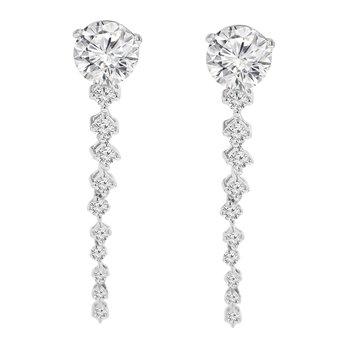1/4ct tw Diamond Earring Jackets in 10K White Gold