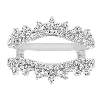1/2ct tw Diamond Wedding Ring Guard in 14K White Gold