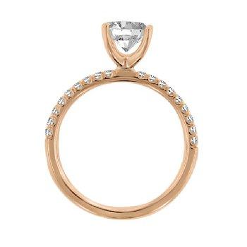 1/5ct tw Diamond Engagement Ring Setting in 14K Rose Gold