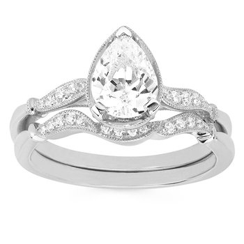 1ct tw Diamond Engagemet Ring in 14K White Gold