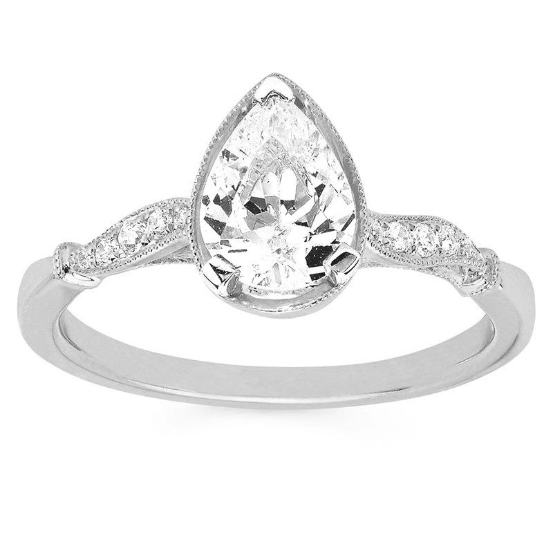 1ct tw Diamond Engagemet Ring in 14K White Gold