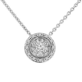 1/10ct tw Diamond Simply Love Collection Necklace in Sterling Silver
