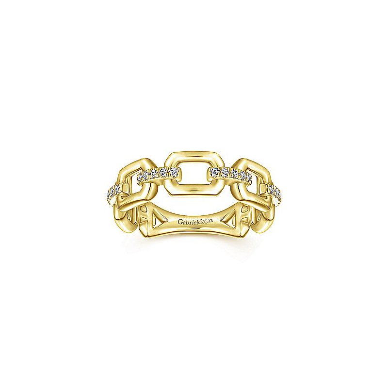 1/10ct tw Diamond Stackable Ring in 14K Yellow Gold