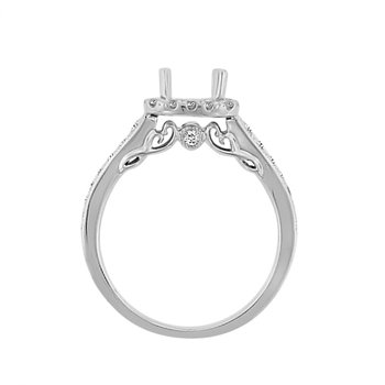 1/2ct tw Diamond Heart of New Orleans Engagement Ring Setting in 14K White Gold