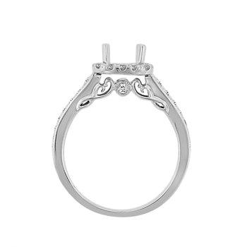 Treasure Hunt Value 1/2ct tw Diamond Heart of New Orleans Engagement Ring Setting in 14K White Gold