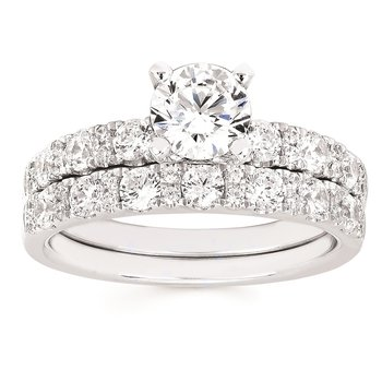 1/2ct tw Diamond Wedding Ring in 14K White Gold
