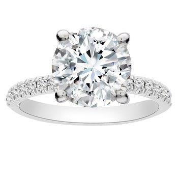 1/4ct tw Diamond Engagement Ring Setting in 14K White Gold