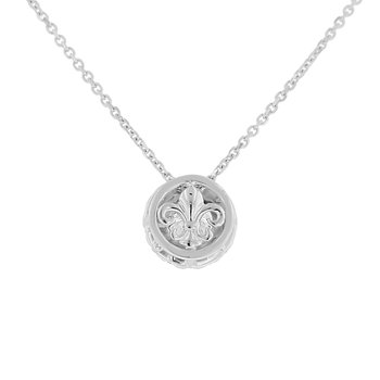 7/8ct tw NewBorn Lab Created Diamond Simply Love Collection Necklace in Sterling Silver
