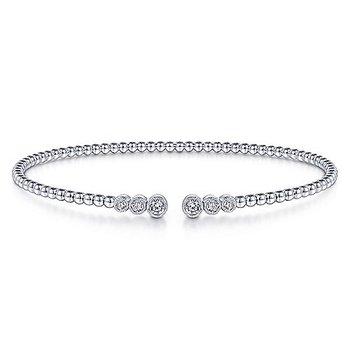 1/4ct tw Diamond Bujukan Bangle Bracelet in 14K White Gold