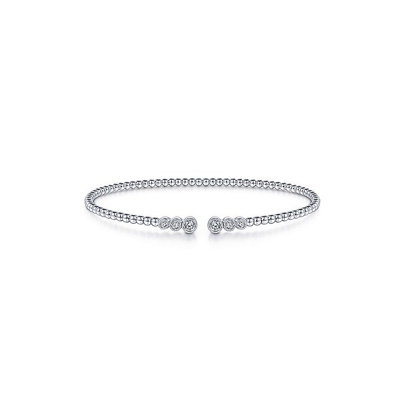 1/4ct tw Diamond Bujukan Bangle Bracelet in 14K White Gold