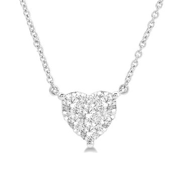 1/2ct tw Diamond Thousand Points of Light Necklace in 14K White Gold
