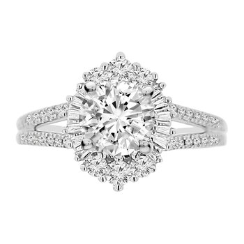 1 1/4ct tw Diamond Halo Engagement Ring in 14K White Gold