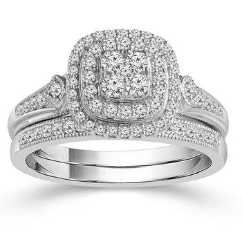 1/10ct tw Diamond Wedding Ring featuring 10K White Gold