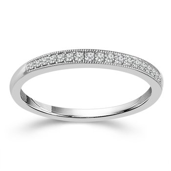 1/10ct tw Diamond Wedding Ring featuring 10K White Gold
