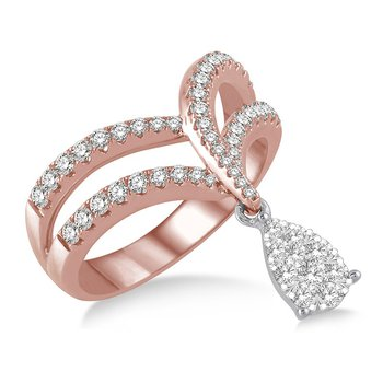 3/4ct tw Diamond Thousand Points of Light Fashion Ring in 14K White & Rose Gold
