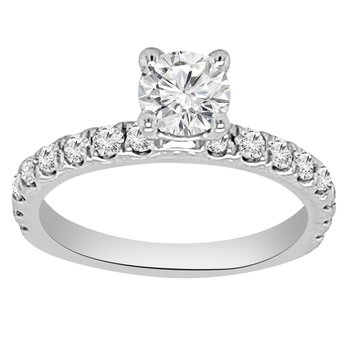 1/2cttw NewBorn Lab Created Diamond Engagement Ring Setting in 14K White Gold