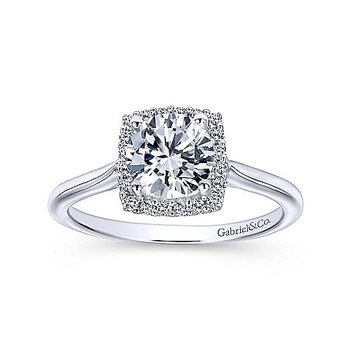 1 1/8ct tw Diamond Halo Engagement Ring in 14K White Gold