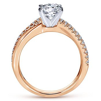 9/10ct tw Diamond Engagement Ring in 14K White & Rose Gold