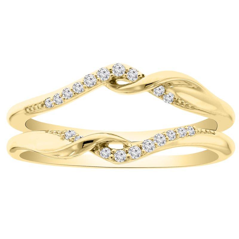 1/8ct tw Diamond Wedding Ring Guard in 14K Yellow Gold