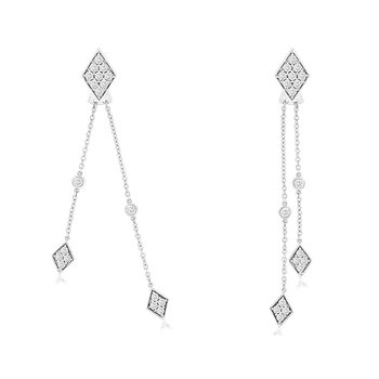 3/4ct tw Diamond Earring Jackets in 14K White Gold
