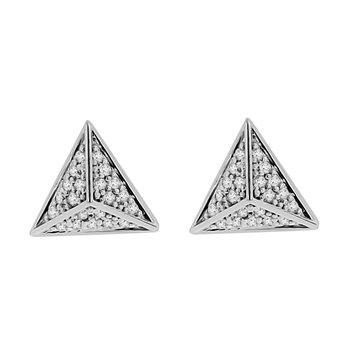 1/5ct tw Diamond Pyramid Stud Earrings in 14K White Gold