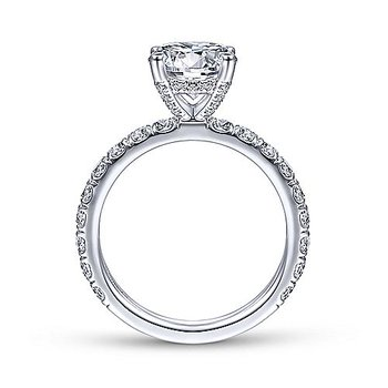 1ct tw Diamond Engagement Ring Setting in 14K White Gold