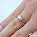 1 1/2ct tw Diamond Engagement Ring in 14K Yellow Gold