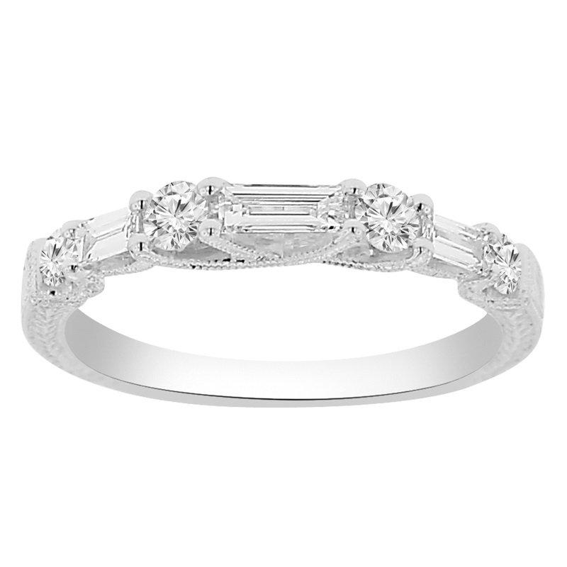 1/2ct te Diamond Wedding Ring in 14K White Gold
