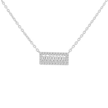 1/3ct tw Diamond Bar Necklace in 14K White Gold