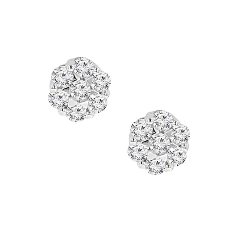 1/8ct tw Diamond Thousand Points of Light Stud Earrings in 14K White Gold