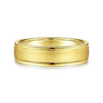 6mm Wedding Ring in 14K Yellow Gold