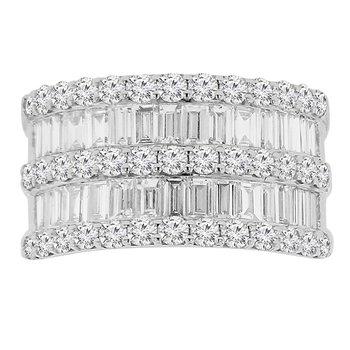 3ct tw Diamond Fashion Ring in 14K White Gold