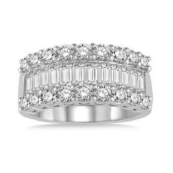 3ct tw Diamond Ring in 18K White Gold