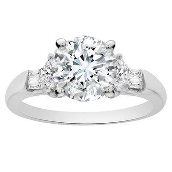 1/4cttw Diamond Engagement Ring Setting in 18K White Gold