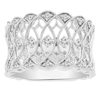 1/3ct tw Diamond Fashion Ring in 18K White Gold