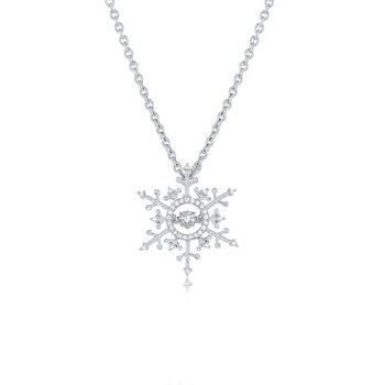 1/10ct tw Diamond Frozen Necklace in 14K White Gold