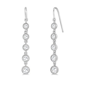 5/8ct tw Diamond Fashion Earrings in 14K White Gold