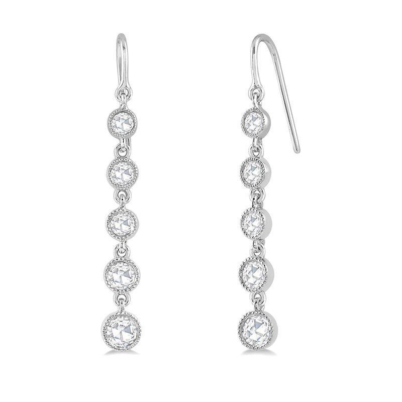 5/8ct tw Diamond Fashion Earrings in 14K White Gold