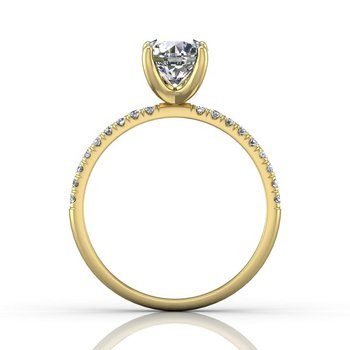1 1/4ct tw Diamond Engagement Ring in 14K Yellow Gold