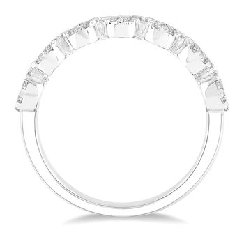 1/2ct tw Diamond Thousand Points of Light Stackable Ring in 14K White Gold