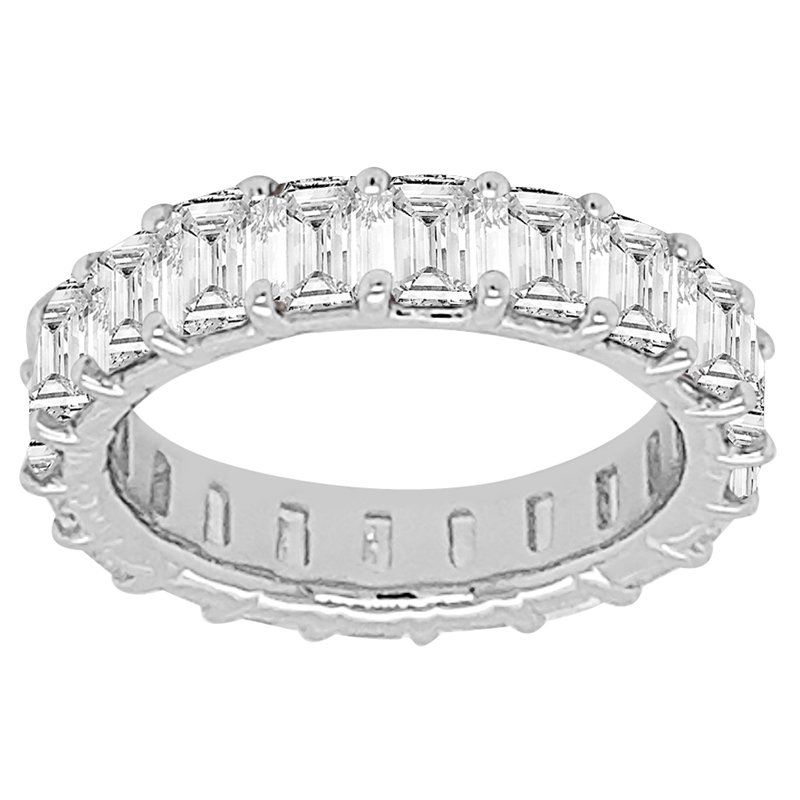 5ct tw NewBorn Lab Created Diamond Eternity Ring in 14K White Gold