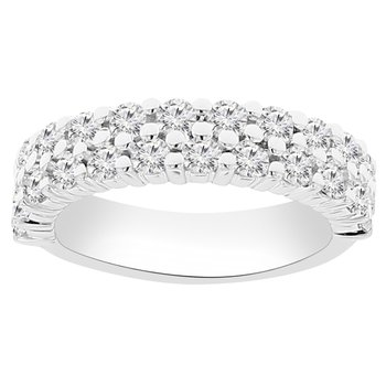 1 1/4ct tw NewBorn Lab Created Diamond Fashion Ring in 14K White Gold