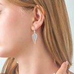 1/14ct tw Diamond Angel Wing Earrings in Sterling Silver
