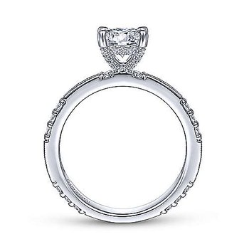 5/8ct tw Diamond Engagement Ring Setting in 14K White Gold