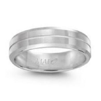 6mm Wedding Ring in 10K White Gold