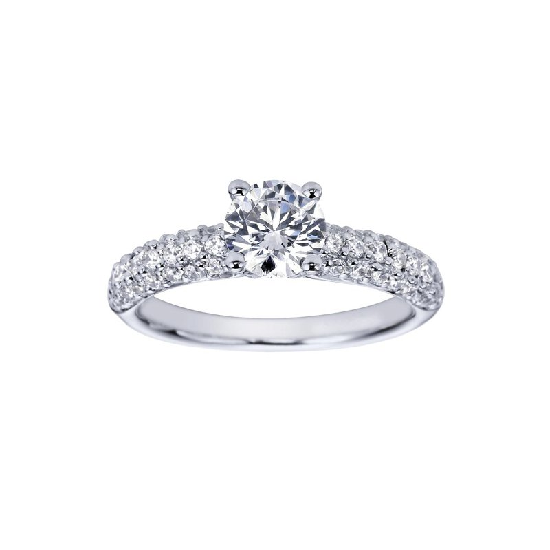 1 1/2ct tw Diamond Engagement Ring in 14K White Gold