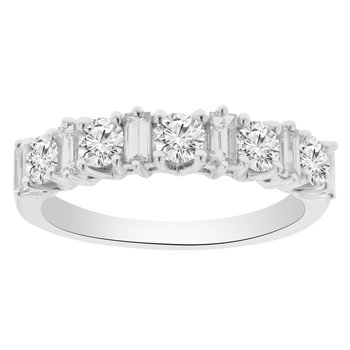 1ct tw Diamond Anniversary Ring in 18K White Gold