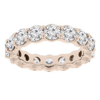 4 1/2ct tw Diamond Eternity Ring in 14K Rose Gold