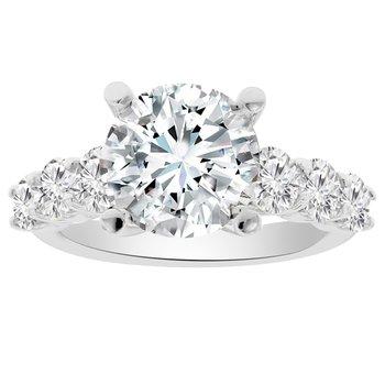 1 1/3ct tw Diamond Engagment Ring Setting in Platinum